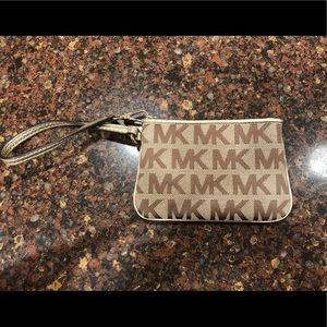 Brand new cream & brown Michael Kors wristlet